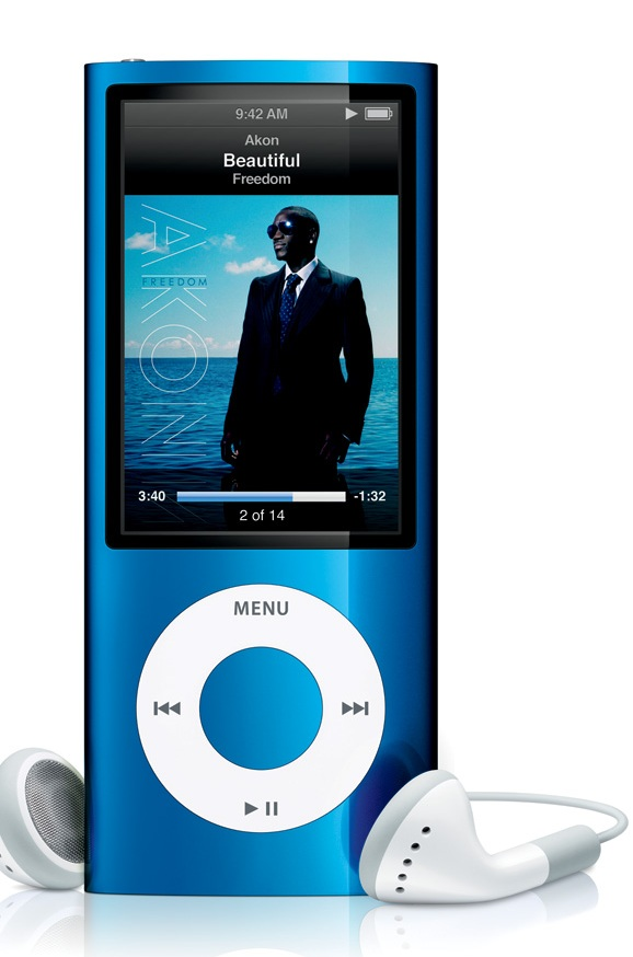 apple ipod nano 5th generation digital mp3 player radio blue 8gb refurbished. Black Bedroom Furniture Sets. Home Design Ideas