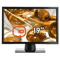 Edge 10 T193 19 inch Education Toughened Hard Glass LCD Monitor WXGA+ TFT LCD 850:1 300cd/m2 1440 x 900 5ms DVI Piano Black