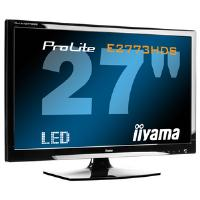 Iiyama ProLite E2773HDS 27 inch LED Backlit LCD Monitor 1200:1 300cd/m2 1920x1080 1ms D-Sub/DVI-D/HDMI (Black)