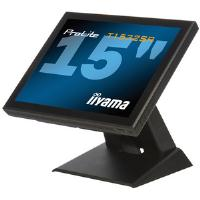 Iiyama ProLite T1532SR 15 inch LCD Monitor Touchscreen 500:1 200cd/m2 1024x768 8ms D-Sub/DVI-D/USB/RS-232C (Black)